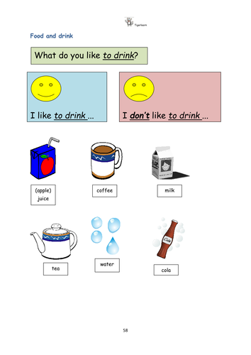 Food and drink complete EAL/ESL lesson