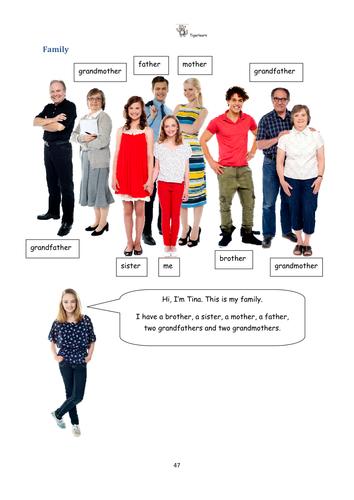 Family vocabulary ESL class