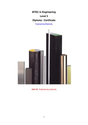 Materials Engineering Booklet