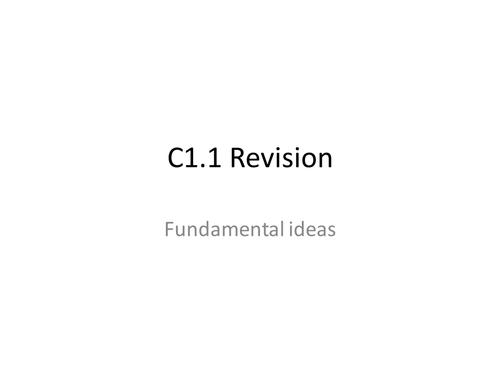 AQA GCSE Chemistry Unit 1 Revision (C1)