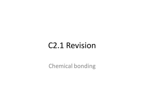 AQA GCSE Chemistry Unit 2.1 & 2.2 Revision