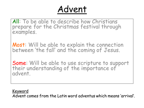 Advent - without lesson plan