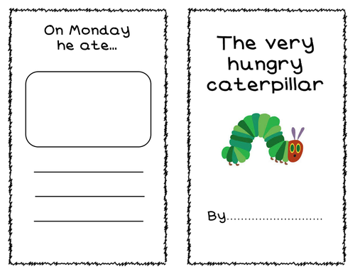 The Very Hungry Caterpillar - days of the week writing booklet