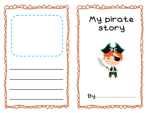 Pirate story booklet template