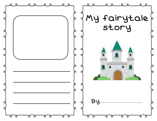 Fairy tale story writing template booklet