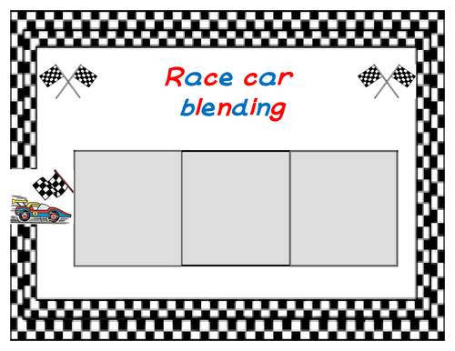 Race car blending game - CVC words