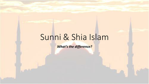 Sunni and Shia Islam - key differences and exam question focus.