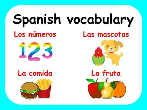 Spanish vocabulary for beginners