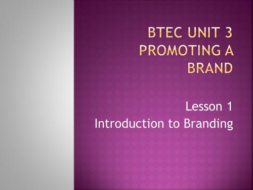 BTEC Business Unit 3 - Brand Promotion (P1)