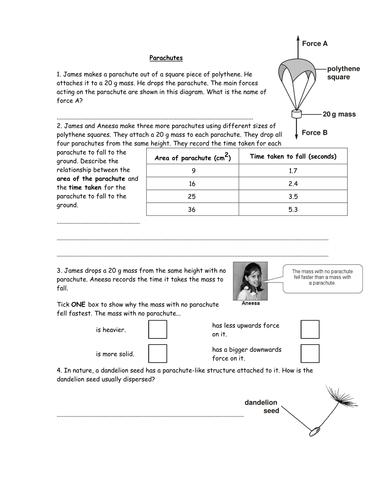 14 Science Homework Worksheets Year 6