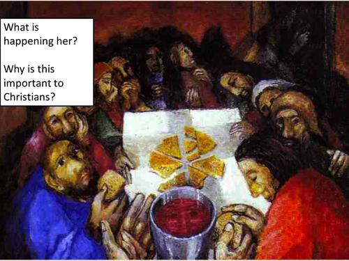 Last Supper and Last Days of Jesus Life Edexcel B 9-1