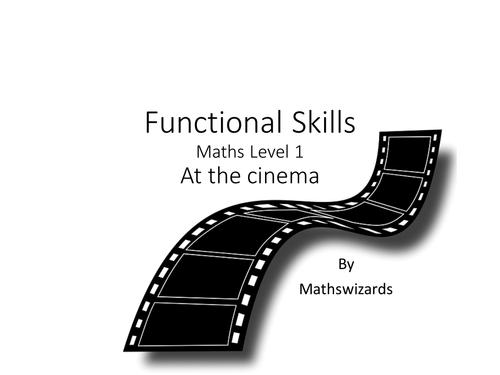 Functional Skills Maths Level 1 : Cinema (Edexcel)