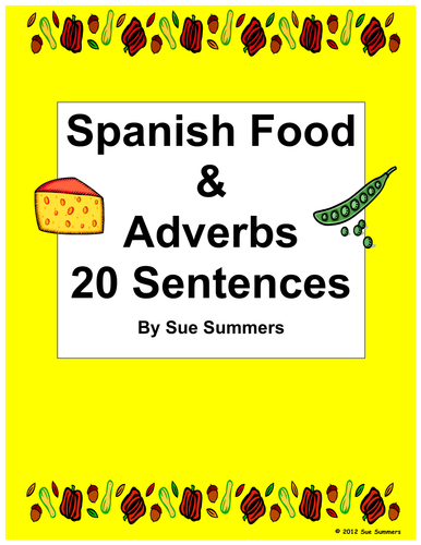 Sue summers shop teaching resources tes for Cuisine sentence