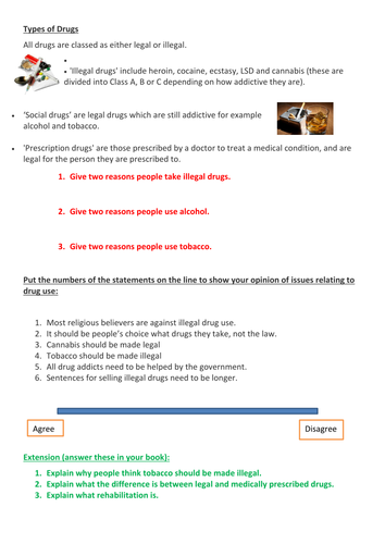 Religious attitudes to Drugs revision - not my own work