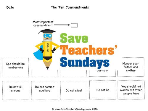 10 Commandments by rhian18 Teaching Resources Tes – 10 Commandments Worksheet