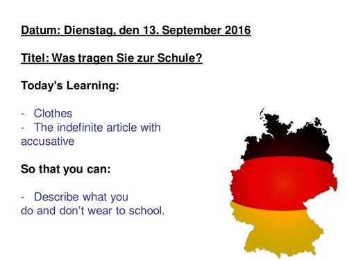 Schuluniform / School Uniform / Tragen