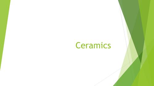 Ceramics - Information presentation.