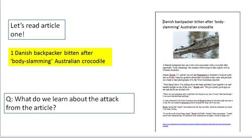 Crocodile Comparison Lesson - Non-Fiction Texts