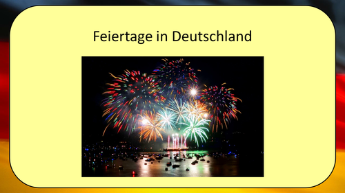 Feste und Traditionen - German holidays and celebrations