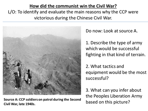 *Full Lesson* Mao's China: Communist victory in the Civil War (Edexcel A-Level History)