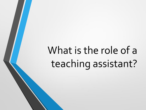 Role of the Teaching Assistant