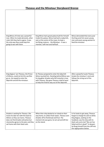 Myths And Legends Worksheets Theseus Midas Samson
