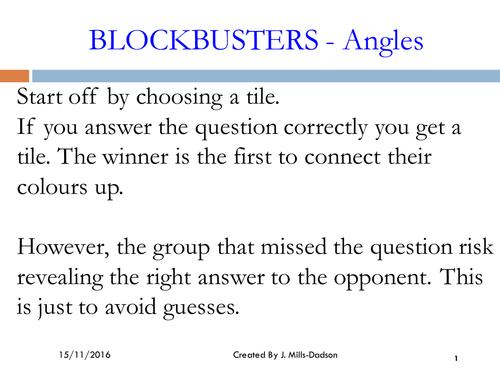 Angles ( blockbuster games)