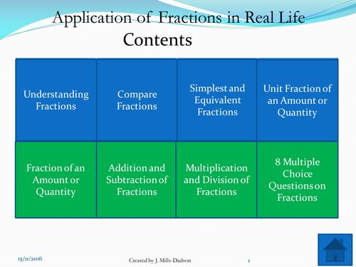 Fraction - Functional skills