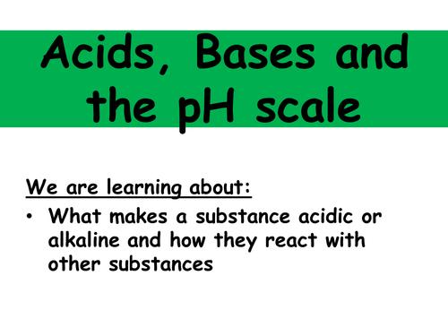 iGCSE Acids, bases and salts scheme of work