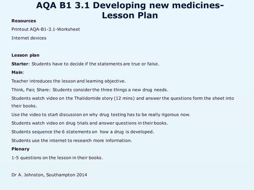 Developing new medicines