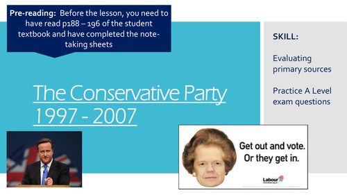 The Conservative Party UK 1997 - 2007