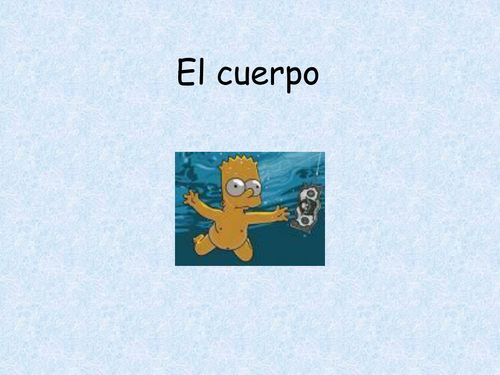 Spanish - Powerpoint introducing body parts