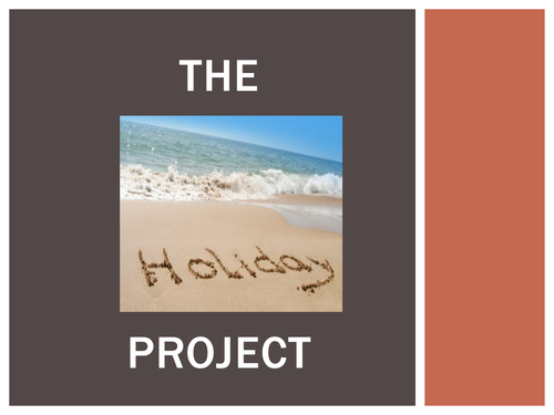 The Holiday Project Powerpoint