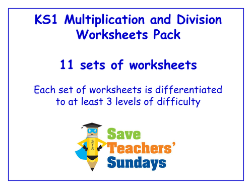 Number teaching resources Addition and subtraction – Division Worksheets Ks1