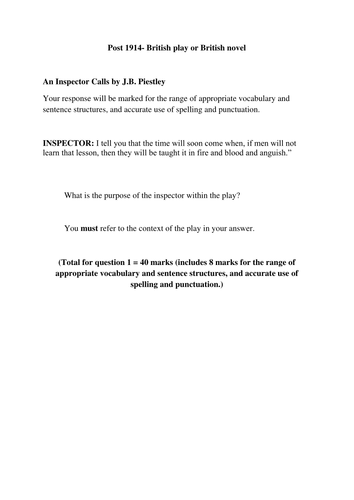 Purpose Of Thesis Statement In An Essay Argumentative Essay Write My Homework For Me An Inspector Informative Synthesis Essay also Essay About Good Health The Inspector Calls Essay Questions  Mistyhamel Examples Of Thesis Statements For Expository Essays