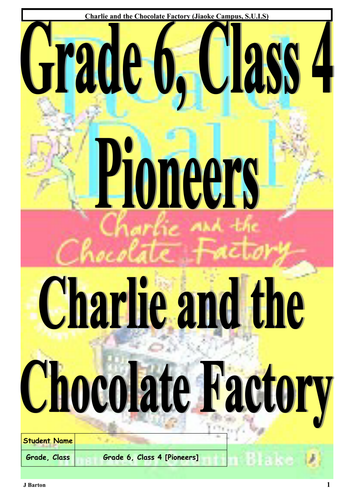 Charlie and the Chocolate Factory - Student Workbook