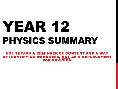 year 10 physics summary