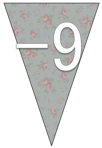 Number Line Bunting - -9 to 9