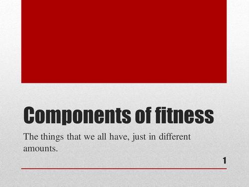 Two complete lessons, ready for use on components of fitness and skill-related factors of fitness.
