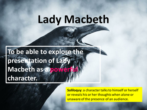 Macbeth Act 1 Scene 5: Powerful Lady Macbeth (low ability)