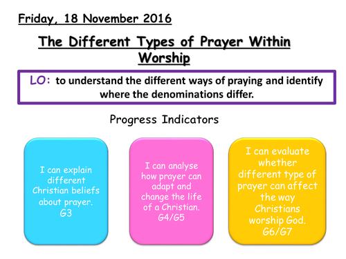 Set and informal prayers
