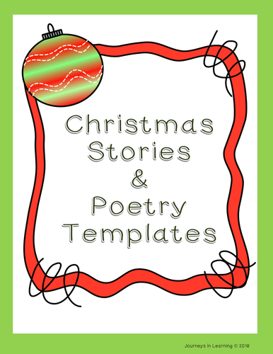 christmas stories poetry templates by pimentm teaching resources