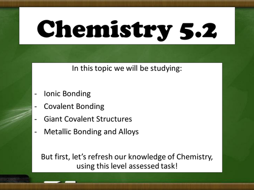 New GCSE - atoms and ions assessed task