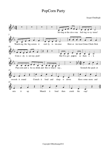 Autumn 2 Year 5 sheet music/ song pack: Flamenco! (Unit 2) by