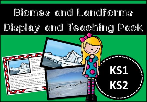 Exploring Biomes and Landforms Display and Activity Pack for KS1/KS2