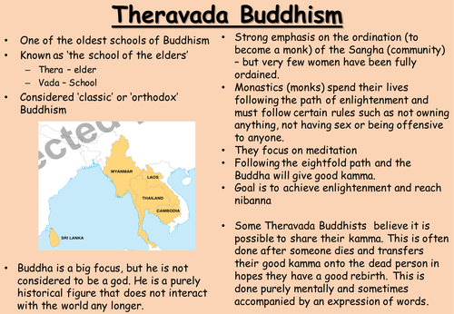 11+12. Theravada and Mahayana on human personality and destiny - AQA 8062 (2016)