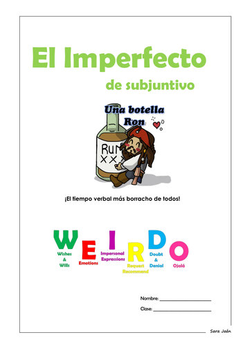 Spanish Imperfect Subjunctive group of resources (booklet and revision mats)