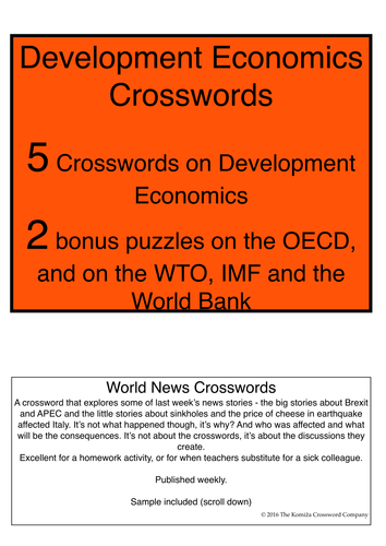 Development Economics Crossword Booklet