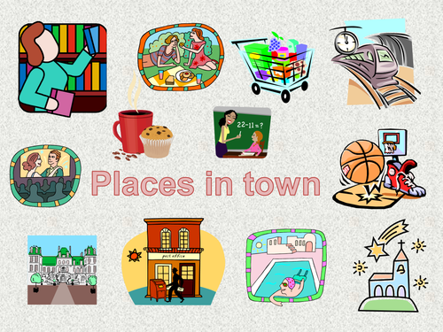 Spanish Places In Town Powerpoint By Crookedsteeple