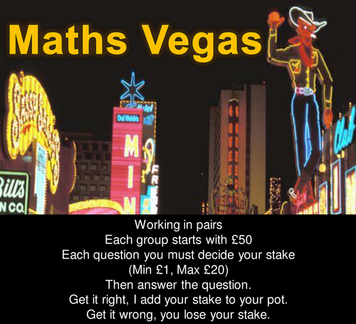 Maths Vegas - Primary